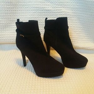 H&M Faux Suede Black Booties